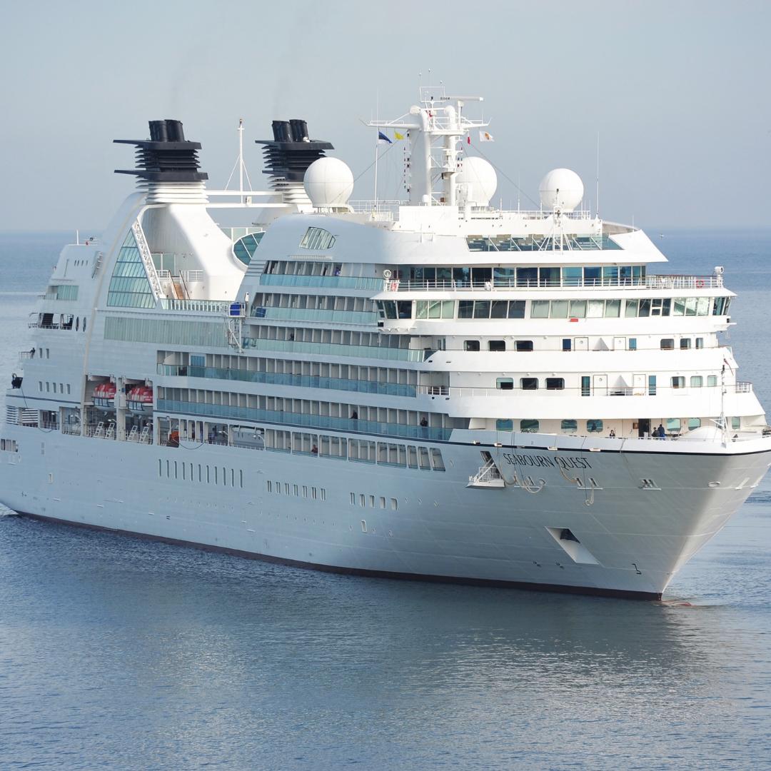 A sea vessel en route.